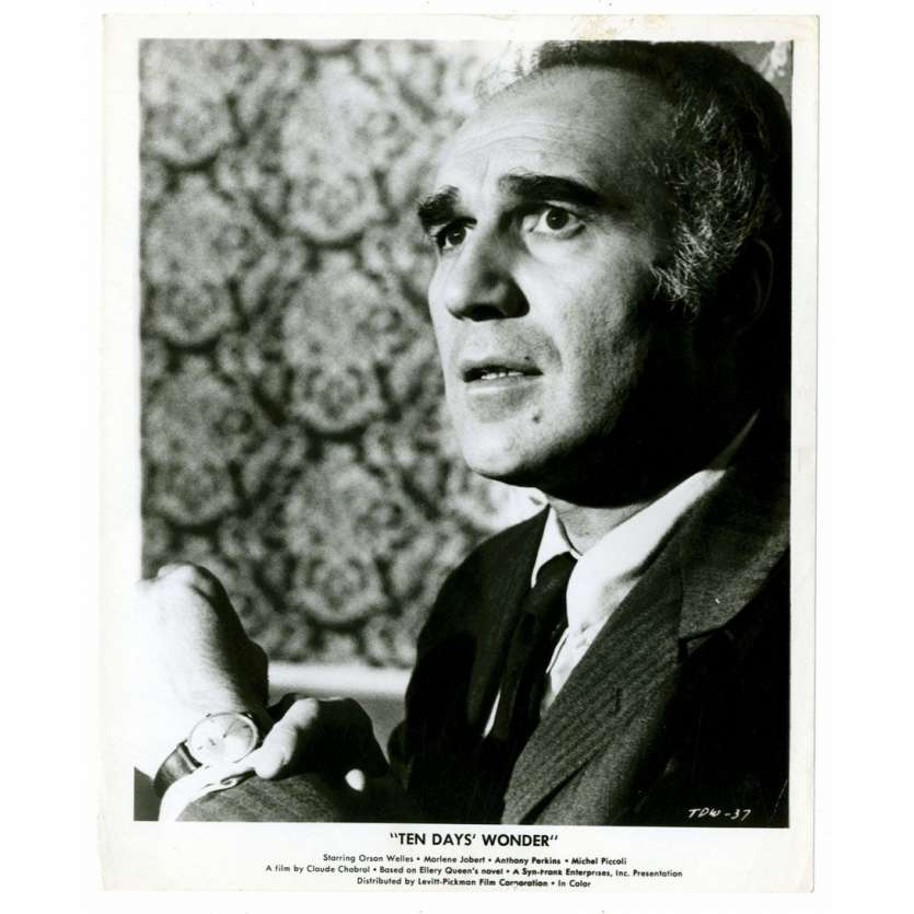 MICHEL PICCOLI 8x10 still '72 close up of the French actor from Ten Days' Wonder!