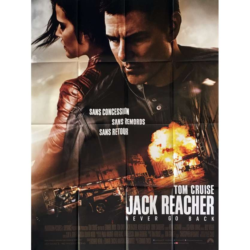 JACK REACHER 2 Affiche de film 120x160 cm - 2016 - Edward Zwick, Tom Cruise