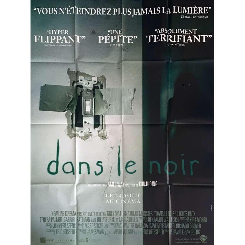 DANS LE NOIR Affiche de film 120x160 cm - 2016 - David F. Sandberg, Teresa Palmer