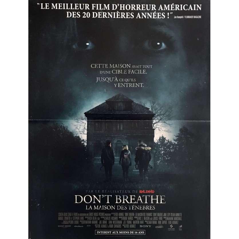 DON'T BREATHE Movie Poster 15x21 in. - 2016 - Fede Alvarez, Evil Dead Director !
