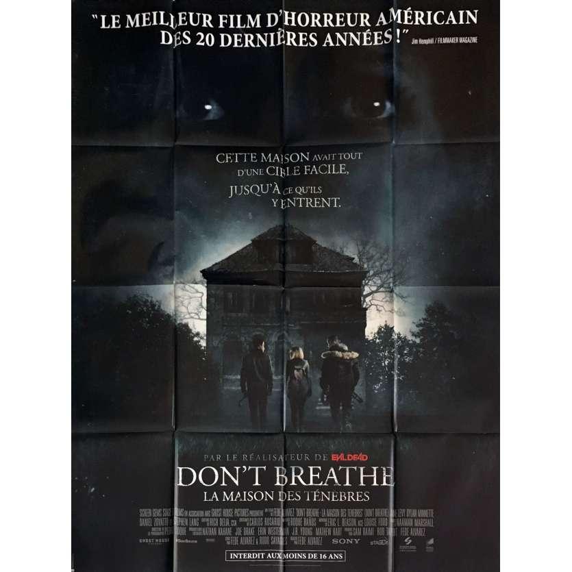 DON'T BREATHE Movie Poster 47x63 in. - 2016 - Fede Alvarez, Evil Dead Director !