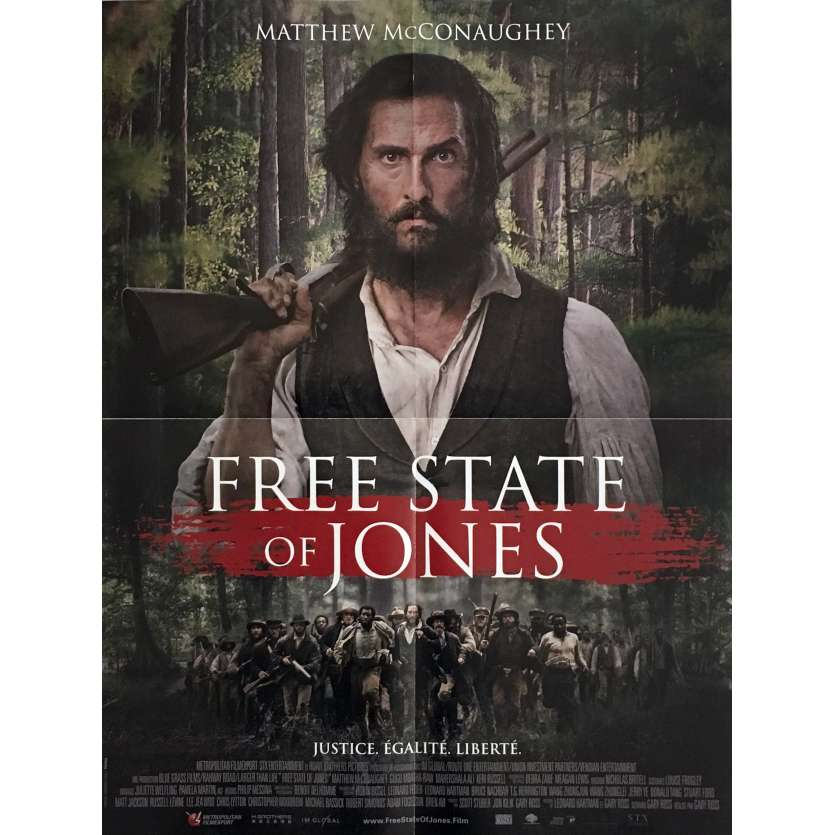 FREE STATE OF JONES Movie Poster 15x21 in. - 2016 - Gary Ross, Matthew McConaughey