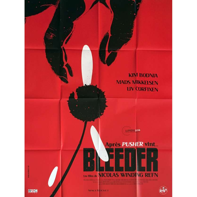 BLEEDER Affiche de film 120x160 cm - 2016 - Nicolas Winding Refn, Pusher