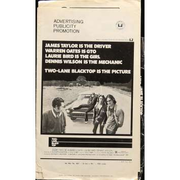 MACADAM A DEUX VOIES Dossier de presse 28x43 cm - 1971 - Warren Oates, Monte Hellman