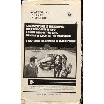 TWO-LANE BLACKTOP Pressbook 11x17 in. - 1971 - Monte Hellman, Warren Oates