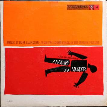 ANATOMY OF A MURDER LP Vinyl 12x12 in. - 1959 - Otto Preminger, James Stewart
