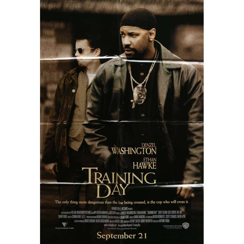 TRAINING DAY Movie Poster 23x32 in. - 2001 - Antoine Fuqua, Denzel Washington