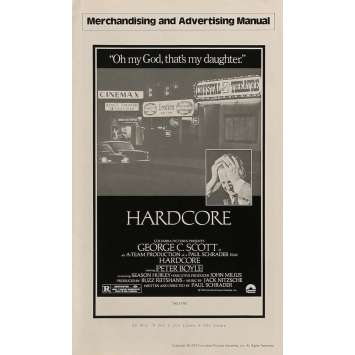 HARDCORE Dossier de presse 28x43 cm - 1979 - George C. Scott, Paul Schrader