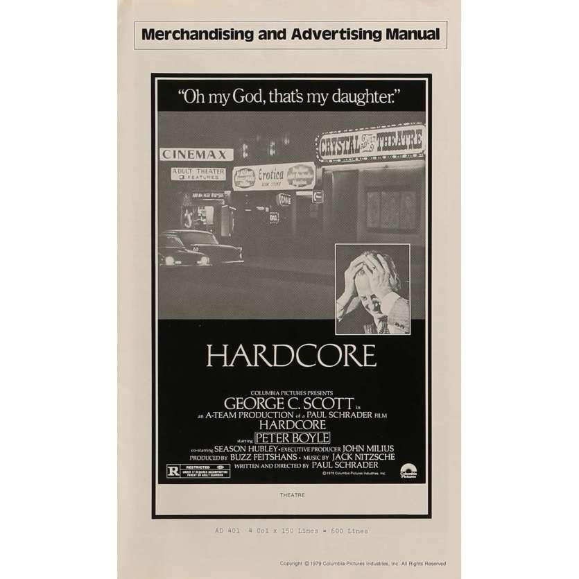 HARDCORE Pressbook 11x17 in. - 1979 - Paul Schrader, George C. Scott