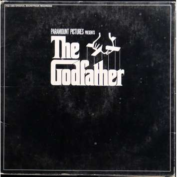 THE GODFATHER LP Vinyl 12x12 in. - 1972 - Francis Ford Coppola, Marlon Brando