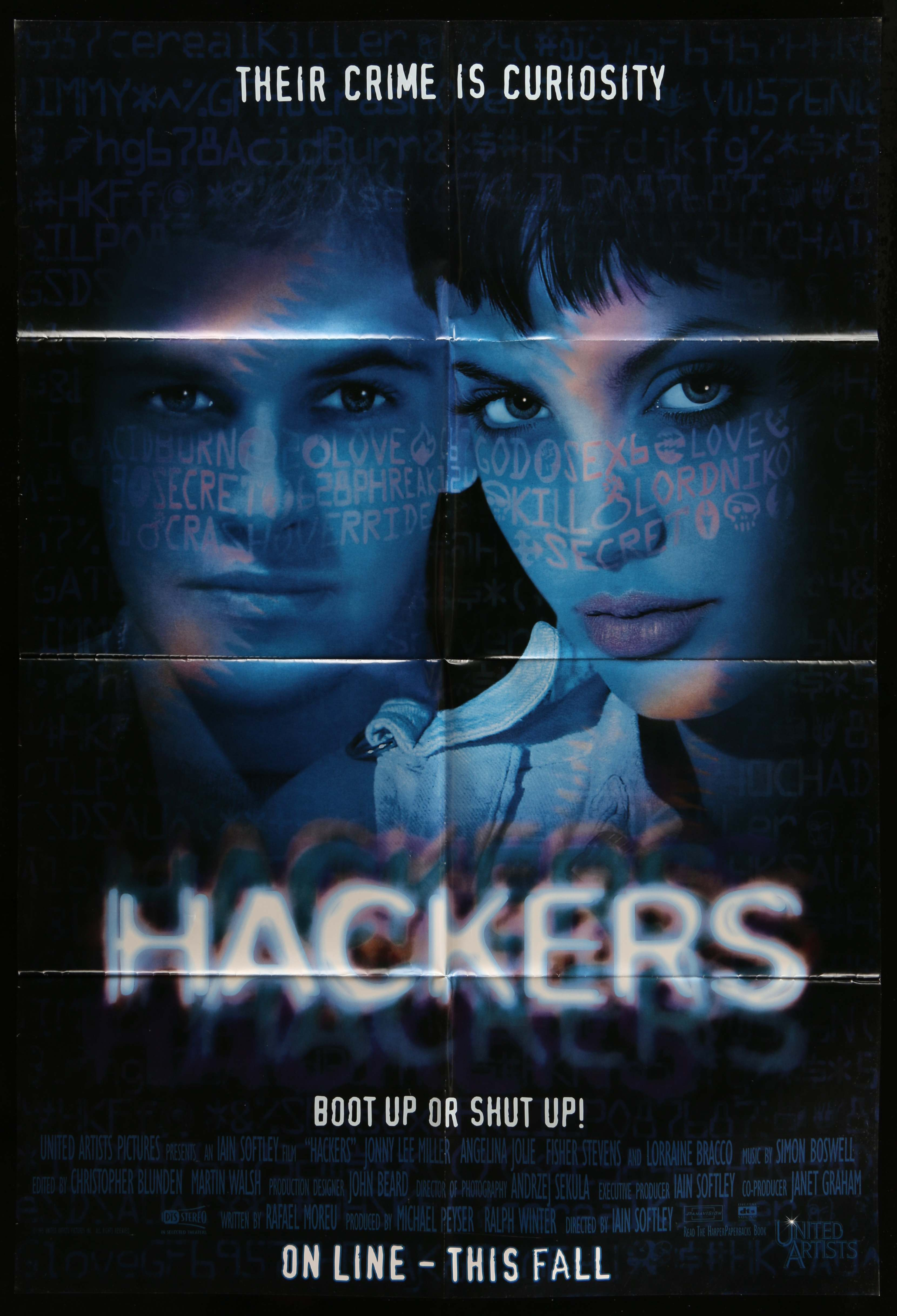 hackers-movie-poster-29x40-in-1995-iain-