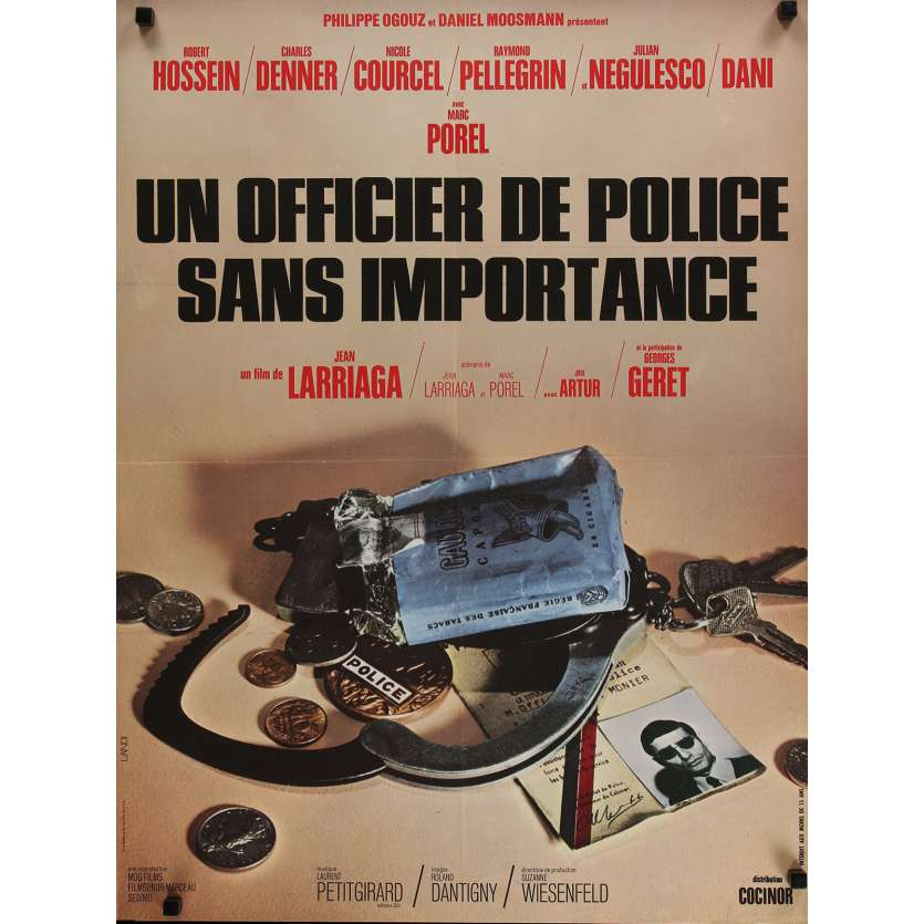 A POLICE OFFICER WITHOUT IMPORTANCE Movie Poster 23x32 in. - 1973 - Jean Larriaga, Charles Denner