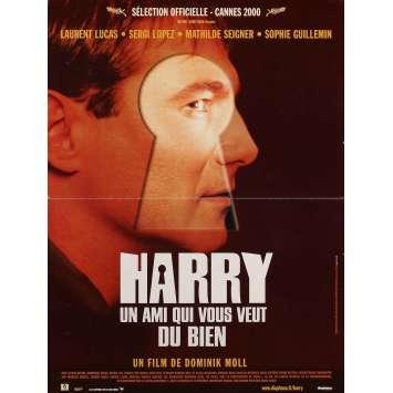 HARRY UN AMI QUI VOUS VEUT DU BIEN Affiche de film 40x60 cm - 2000 - Sergi Lopez, Dominik Moll