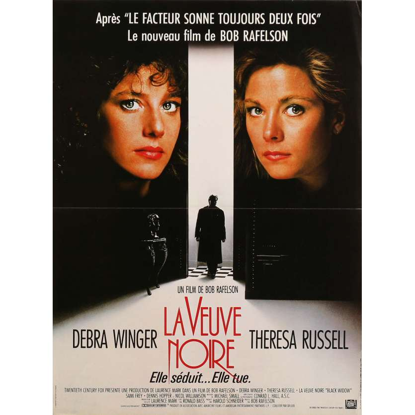 BLACK WIDOW Movie Poster 15x21 in. - 1987 - Bob Rafelson, Debra Winger