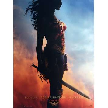 WONDER WOMAN Movie Poster 15x21 in. - 2017 - Patty Jenkins, Gal Gadot