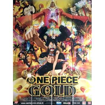 ONE PIECE FILM GOLD Movie Poster 47x63 in. - 2016 - Hiroaki Miyamoto, Ikue Otani