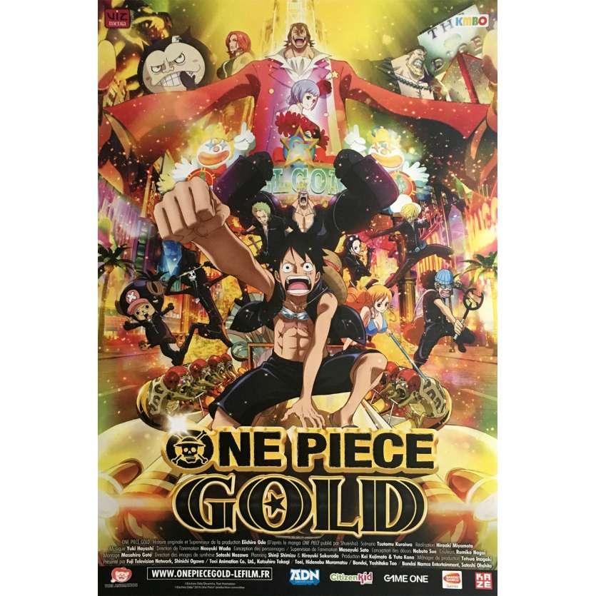 ONE PIECE FILM GOLD Affiche de film 40x60 cm - 2016 - Ikue Otani, Hiroaki Miyamoto
