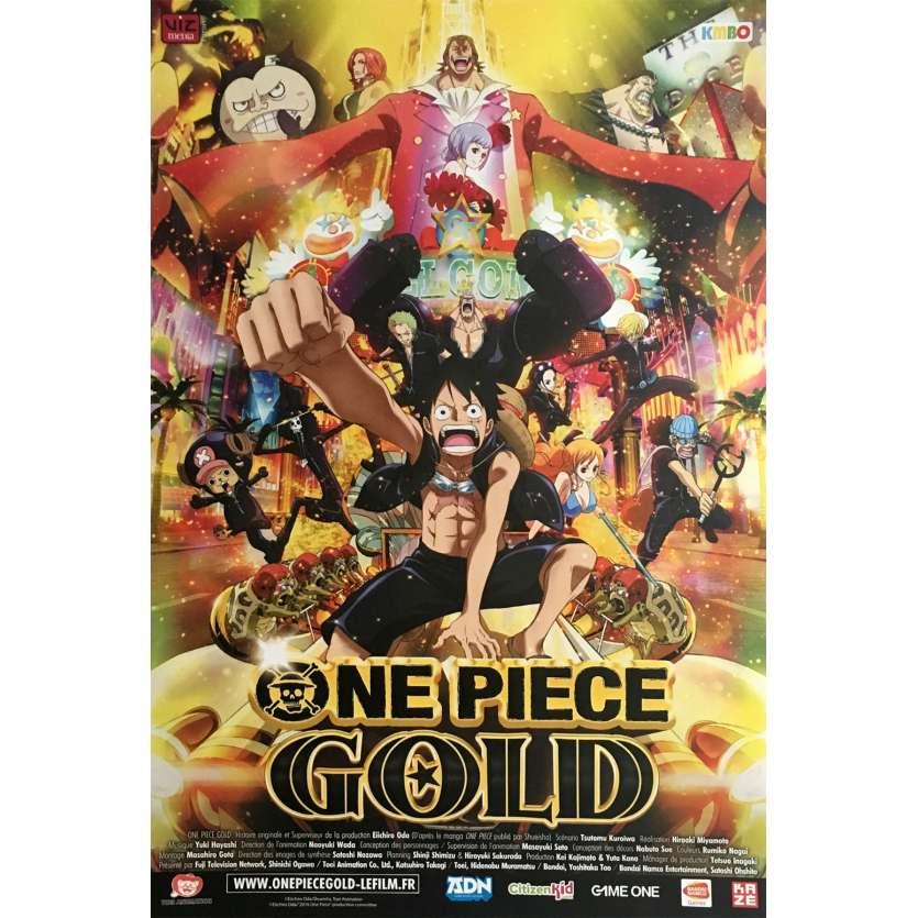 ONE PIECE FILM GOLD Movie Poster 15x21 in. - 2016 - Hiroaki Miyamoto, Ikue Otani