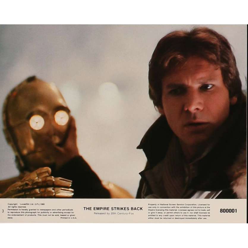 STAR WARS - THE EMPIRE STRIKES BACK US Lobby Card 3 8x10 - 1980 - Irvin Keshner, Harrison Ford