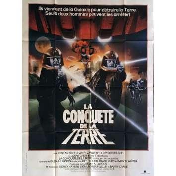 GALACTICA LA CONQUETE DE LA TERRE Affiche de film 120x160 cm - 1981 - Kent McCord, Glen A. Larson