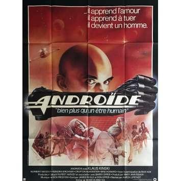 ANDROIDE Affiche de film 120x160 cm - 1982 - Klaus Kinski, Aaron Lipstadt