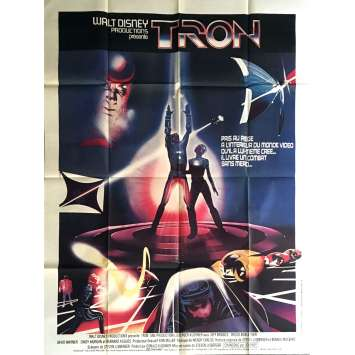 TRON Original Movie Poster 47x63 '82 Jeff Brifges, Disney