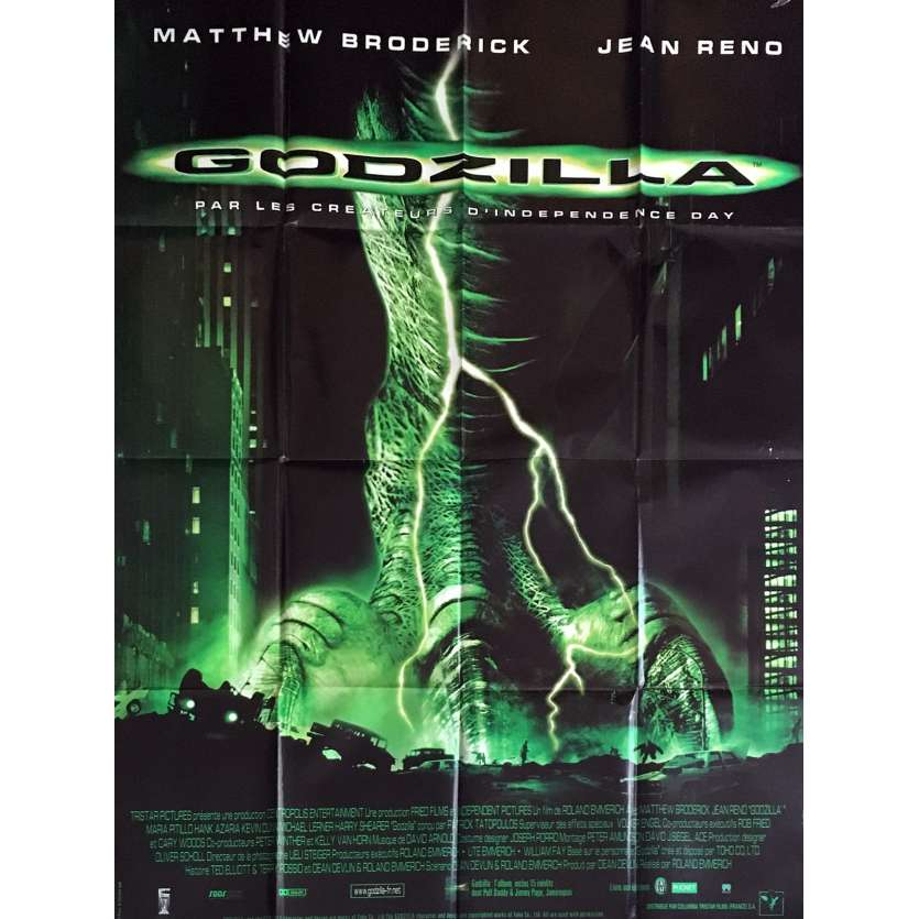 GODZILLA French Movie Poster 47x63 '98 Jean Reno