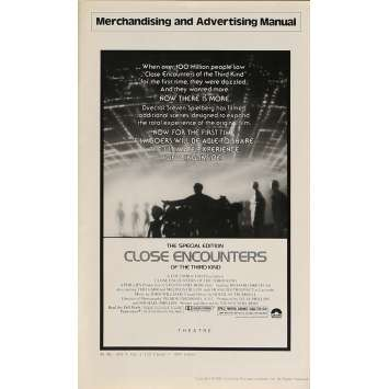 CLOSE ENCOUNTERS OF THE THIRD KIND pressbook '77 Steven Spielberg sci-fi classic!