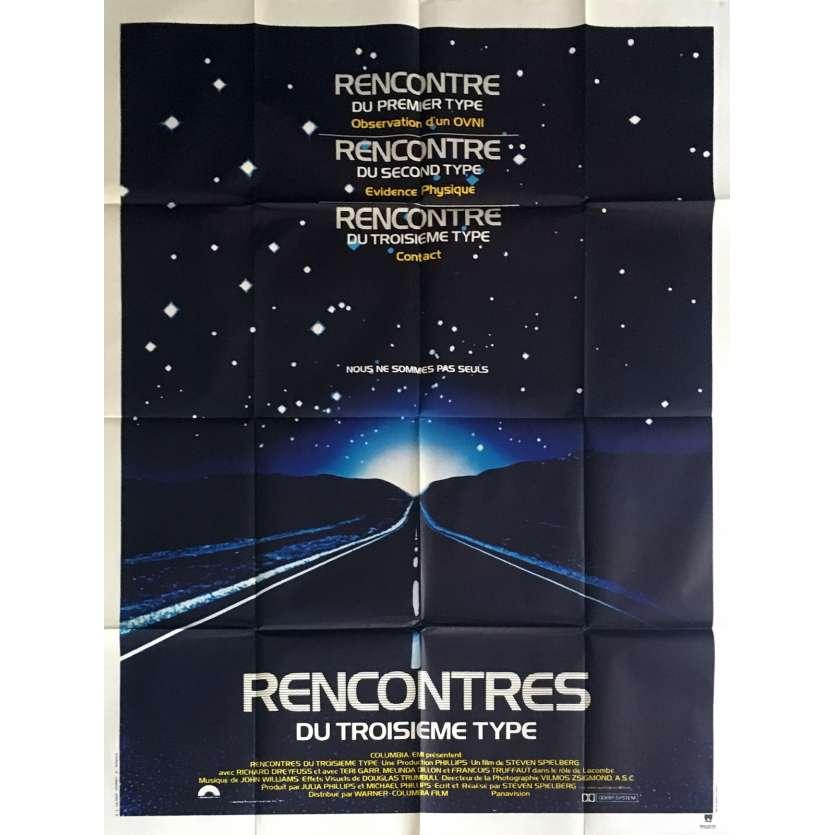 RENCONTRES DU 3e TYPE Affiche de film 120x160 - 1977 - Steven Speilberg