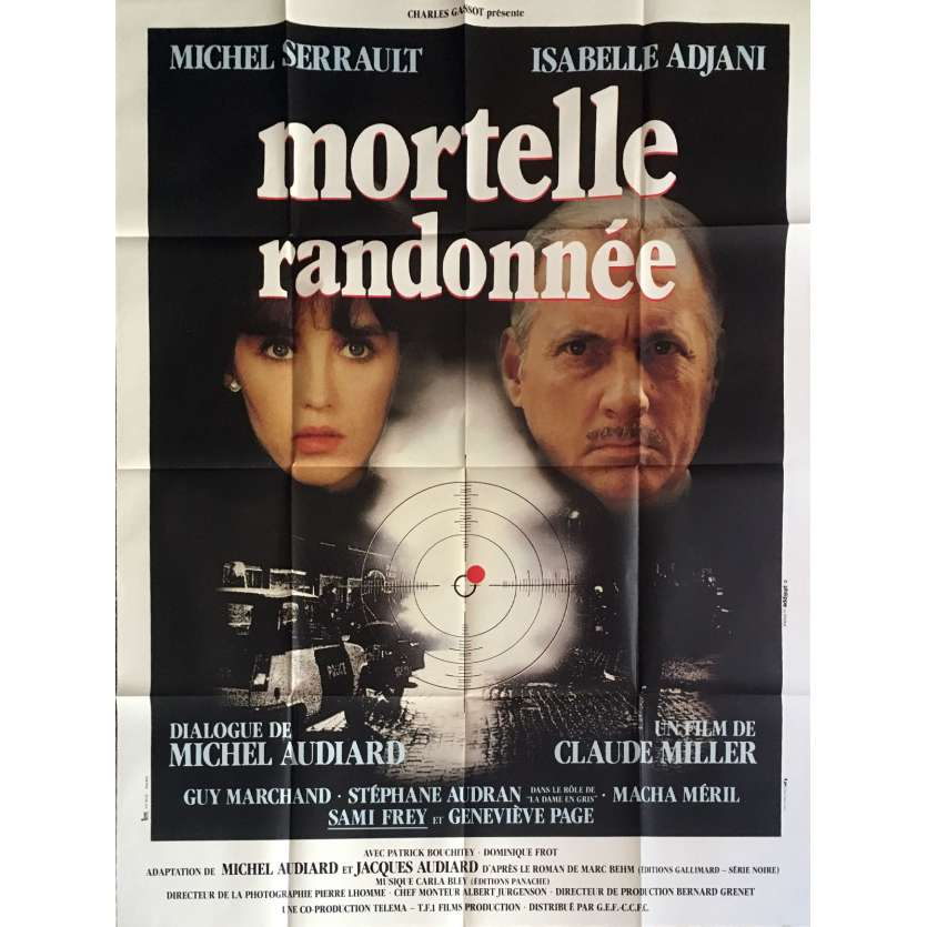 DEADLY CIRCUIT Movie Poster 47x63 in. French - 1983 - Claude Miller, Michel Serrault