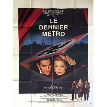 LE DERNIER METRO Affiche de film 120x160 cm - 1980 - Catherine Deneuve, François Truffaut