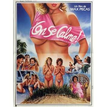 ON SE CALME ET ON BOIT FRAIS A ST-TROPEZ Movie Poster 15x21 in. - 1987 - Max Pécas, Léa Fréchet