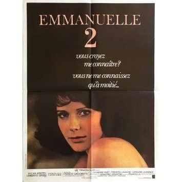 EMMANUELLE 2 Affiche de film 60x80 cm - 1975 - Sylvia Kristel, Francis Giacobetti