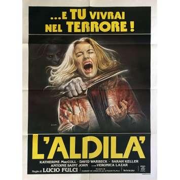 L'AU DELA Affiche de film 100x140 cm - 1981 - Catriona MacColl, Lucio Fulci