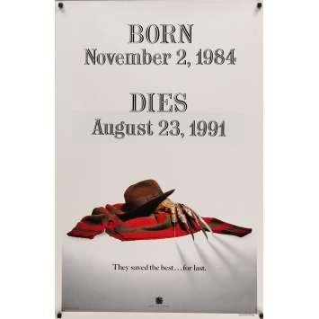 LA FIN DE FREDDY Affiche de film Teaser 69x104 cm - 1991 - Robert Englund, Wes Craven