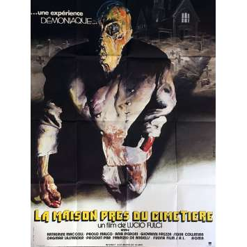 HOUSE BY THE CEMETARY Movie Poster 47x63 in. - 1981 - Lucio Fulci, Catriona McColl