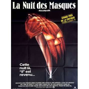 HALLOWEEN LA NUIT DES MASQUES Affiche de film 120x160 cm - 1978 - Jamie Lee Curtis, John Carpenter