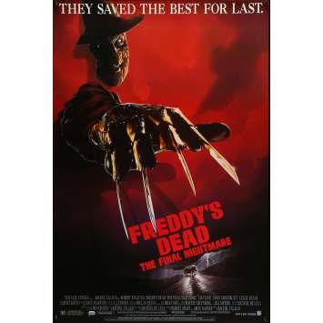 FREDDY'S DEAD Movie Poster 29x41 in. - 1991 - Wes Craven, Robert Englund