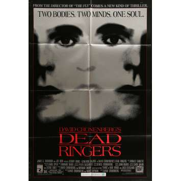 DEAD RINGERS Movie Poster 29x41 in. - 1988 - David Cronenberg, Jeremy Irons