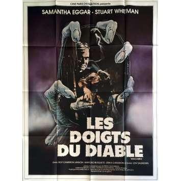 LES DOIGTS DU DIABLE Affiche de film 120x160 cm - 1981 - Samantha Eggar, Alfredo Zacharias