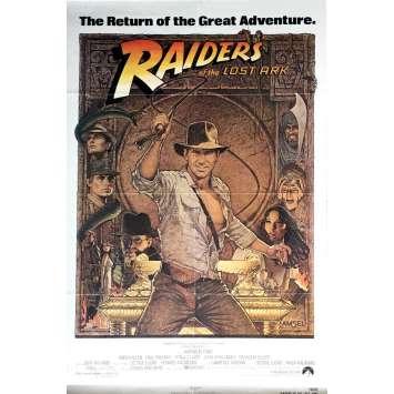 INDIANA JONES - LES AVENTURIERS DE L'ARCHE PERDUE Affiche de film 69x104 - R1982 - Harrison Ford, Steven Spielberg