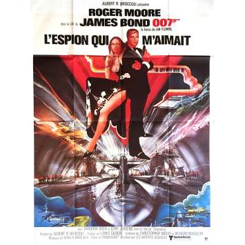 THE SPY WHO LOVED ME Movie Poster 47x63 in. French - R83 - Lewis Gilbert, Roger Moore