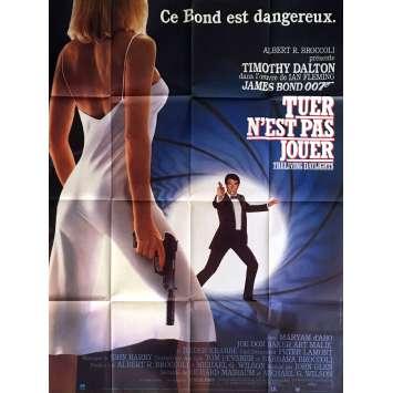 THE LIVING DAYLIGHTS French Movie Poster 47x63 - 1987 - John Glen, Timothy Daldon