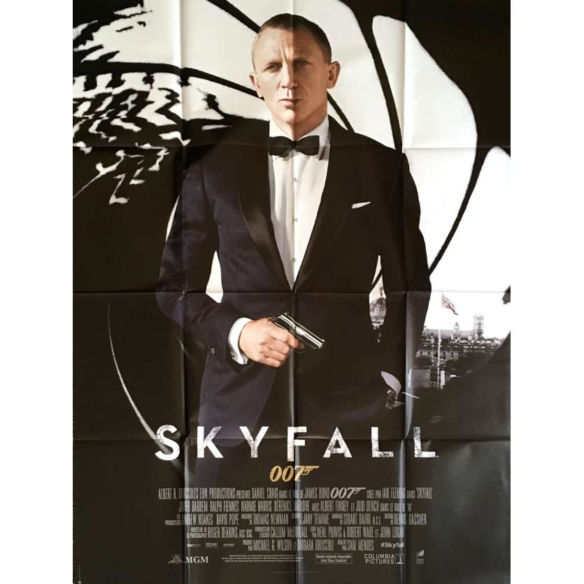 SKYFALL Affiche de film 120x160 - 2012 - Daniel Craig, James Bond