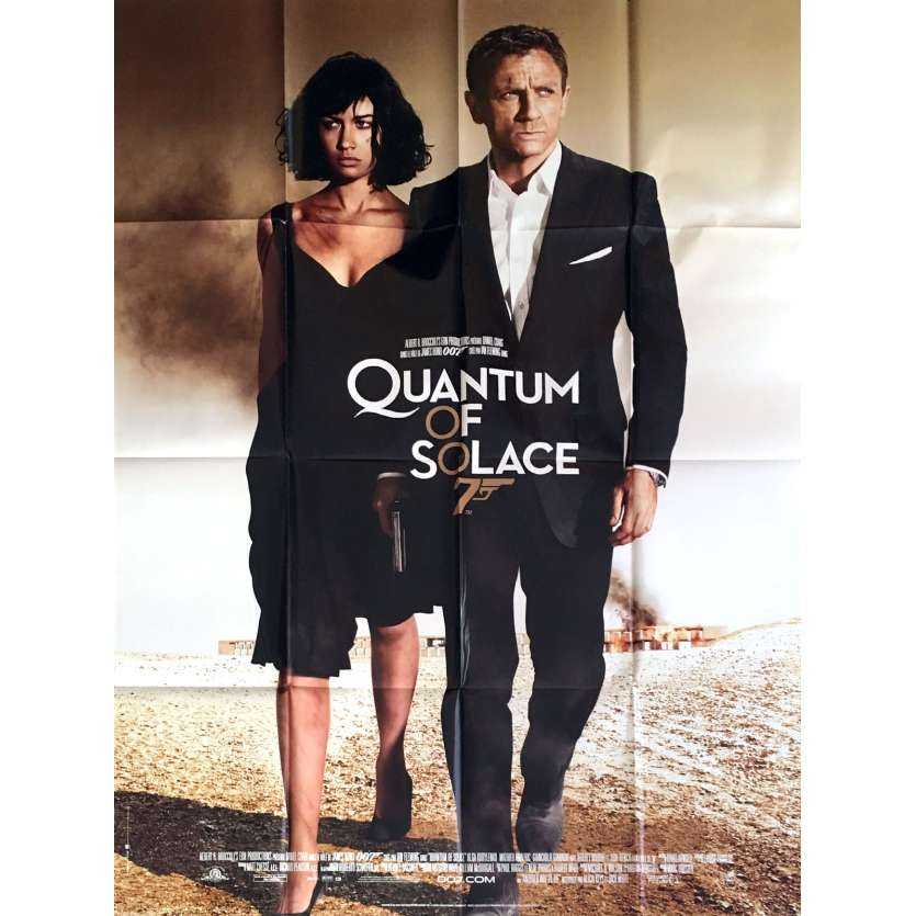 QUANTUM OF SOLACE French Movie Poster 47x63 - 2008 - James Bond, Daniel Craig