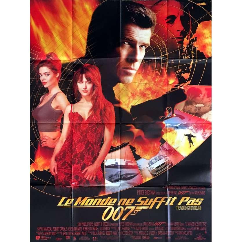 LE MONDE NE SUFFIT PAS Affiche de film 120x160 - 1999 - Pierce Brosnan, James Bond