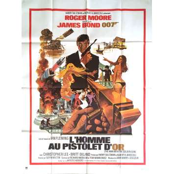 THE MAN WITH THE GOLDEN GUN French Movie Poster 47x63 - 1974 - Guy Hamilton, Roger Moore
