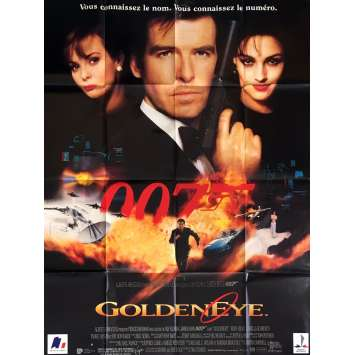 GOLDENEYE French Movie Poster 47x63 '95 Pierce Brosnan, 007 James Bond