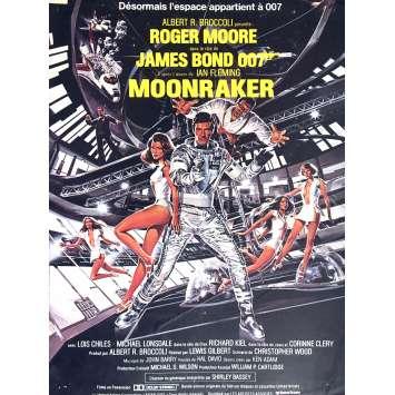 MOONRAKER Affiche de film 40x60 - 1979 - Roger Moore, Lewis Gilbert