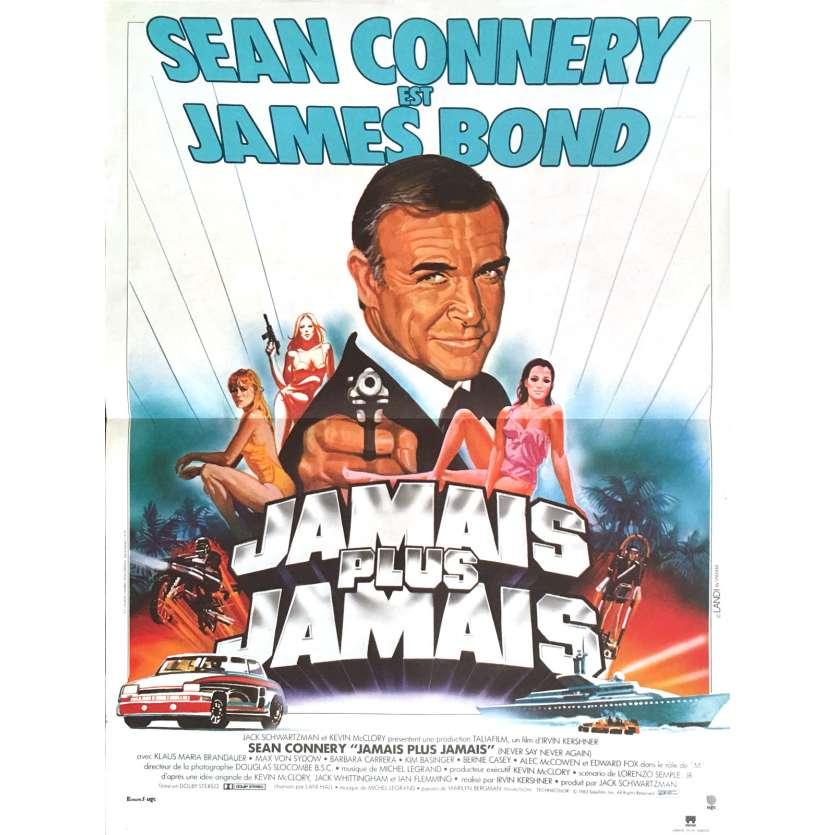 JAMAIS PLUS JAMAIS Affiche de film 40x60 - 1983 - Sean Connery, Irvin Keschner